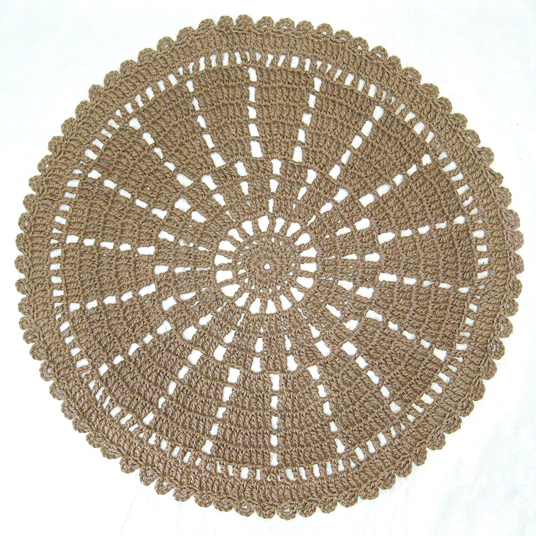 Amazon Round Jute Area Rug Wheel Or Mandala Pattern