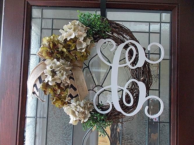 Spring Wreath Spring Wreaths For Front Door Hydrangea Monogram Wreath Hydrangea  Wreath