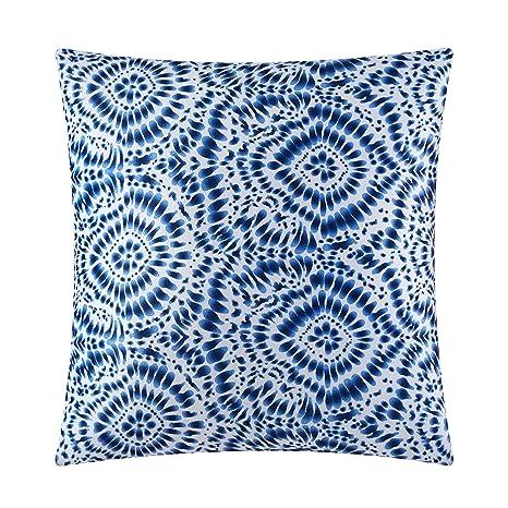 Amazon.com: Pop tienda azul batik dec almohada: Home & Kitchen