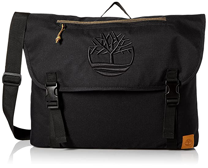 Timberland Men's Mendum Pond Nylon Messenger Bag, Black