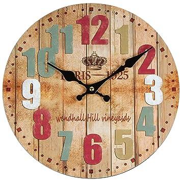 Perla PD Diseño reloj de pared Reloj de cocina vintage color diseño ...
