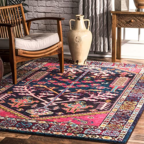 nuLOOM Tonita Tribal Area Rug, 5 3 x 7 7 , Pink