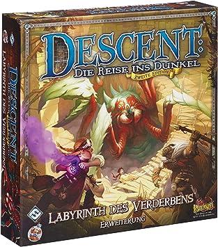 Heidelberger HEI0603 Descent: Labyrinth Des Verderbens - Juego de Mesa (2ª edición, ampliación del Juego Labyrinth Des Verderbens, a Partir de 14 años, de 2 a 5 Jugadores, Contenido en alemán): Amazon.es: