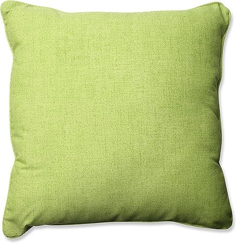 Pillow Perfect Outdoor Indoor Essence Onyx Floor Pillow, 25 x 25 , Black