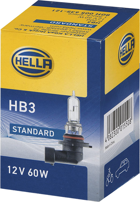 HELLA 8GH 005 635-121 Lámpara - HB3 - Standard - 12V/60W - P20d - caja - Cant.: 1