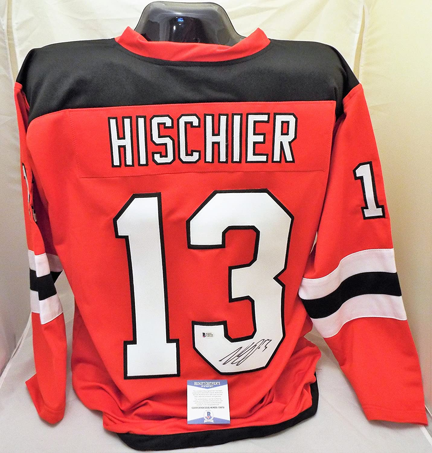half off cf186 4147e Nico Hischier SIGNED /AUTOGRAPHED New Jersey Devils Jersey ...