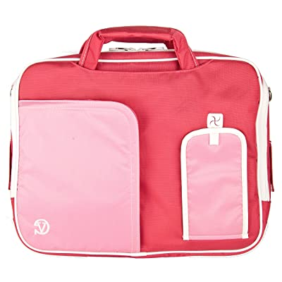 Pink VG Pindar Edition Durable Messenger Shoulder Bag Case for HP Pavilion 15.6 inch Laptop Models dv6-7020 us / dv6-7010 us / HP 2000-2a20nr / HP 2000-2a10nr / ENVY 6-1010us / Envy 4-1010us / g6-2010nr / g6-1d80nr / HP Compa