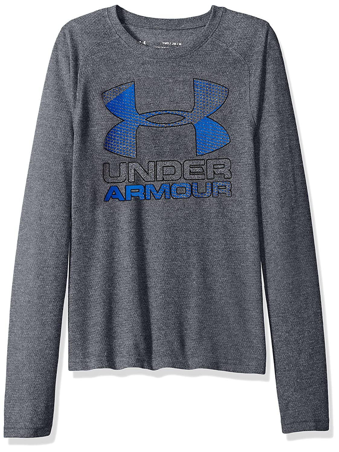 Under Armour Camiseta de Manga Larga para Chicos Logo h/íbrido Grande