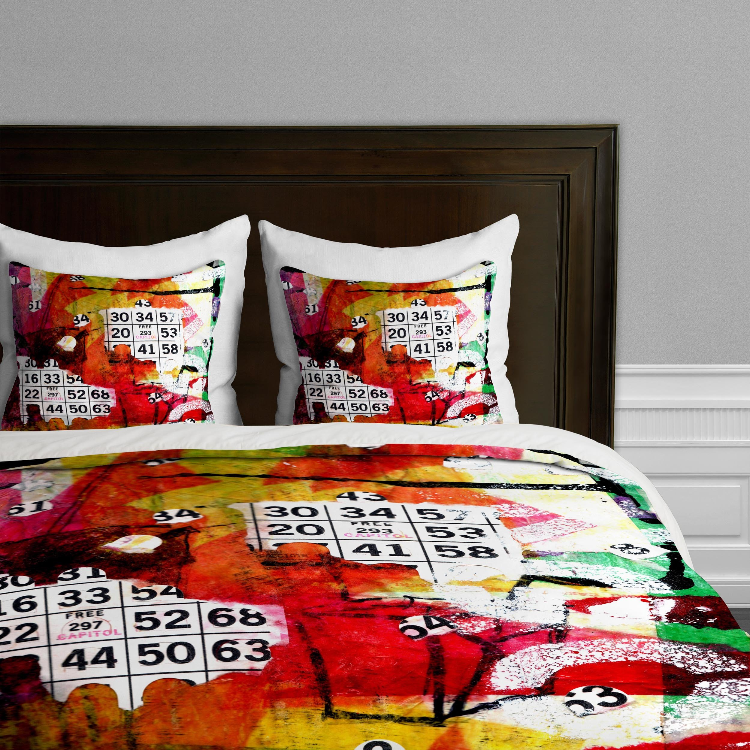 Deny Designs  Sophia Buddenhagen Bright Bingo 2 Duvet Cover, Twin/Twin XL