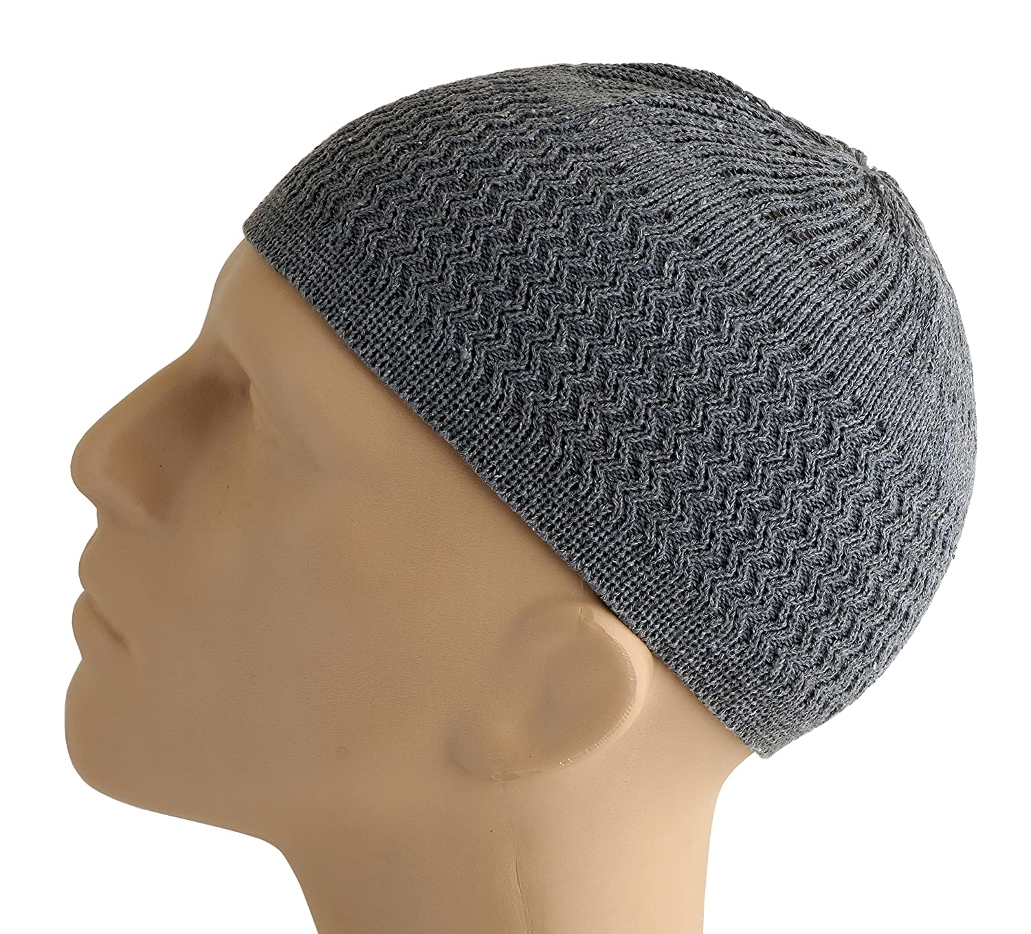 Candid Signature Apparel Zigzag Threaded Skull Cap Chemo Kufi Beanie Hat  for Men Women Bikers (Beige) at Amazon Men s Clothing store  b7b0a5024a1e