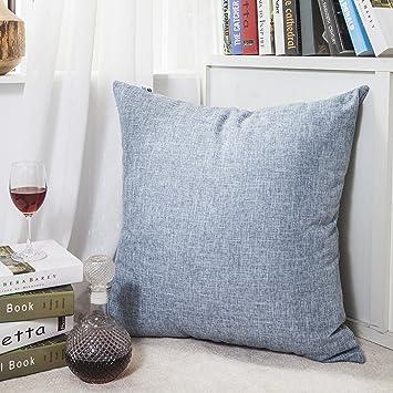 Kevin Textile Decor Linen Pillow Cover Soft Square Throw Pillow Case Sham  Denim Blue Cushion Cover Part 92