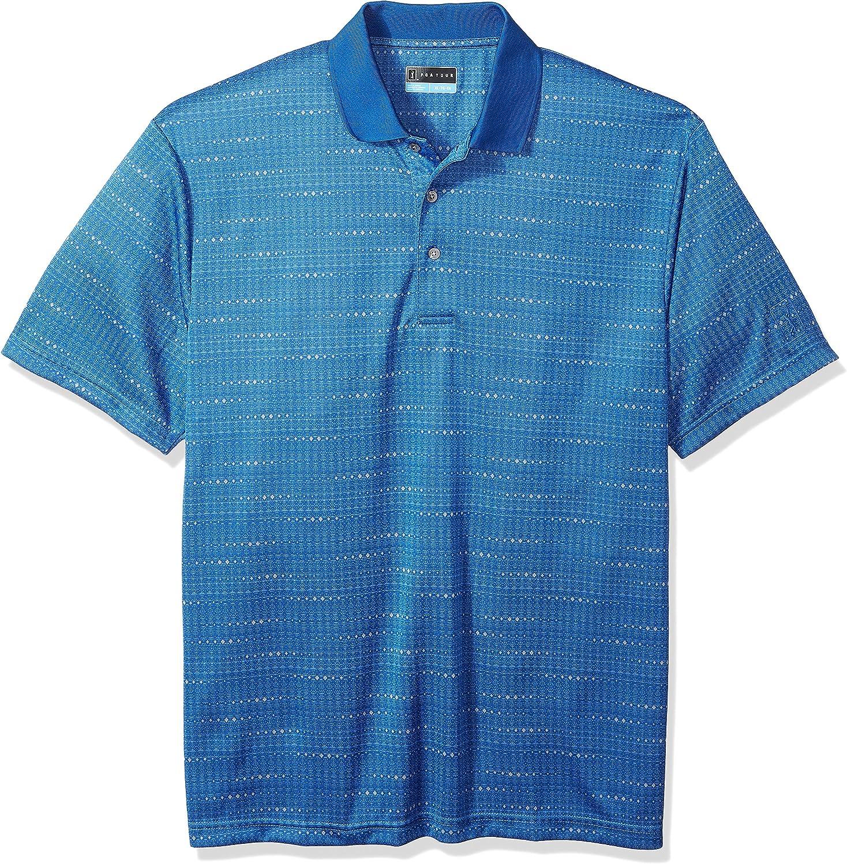 PGA TOUR Mens Short Sleeve Jacquard Polo Shirt