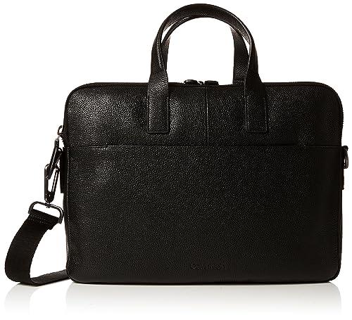 Calvin Klein Jeans Essential Leather 2 Gusset Laptop Bag - Borse per PC  portatili Uomo 3ecca2abbf1