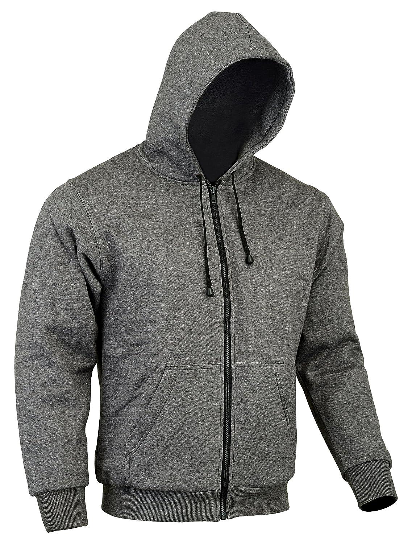 Renforts CE//100/% Kevlar 48//122 cm Gris XL = 46//117 cm Sweat-Shirt /à Capuche en Polaire