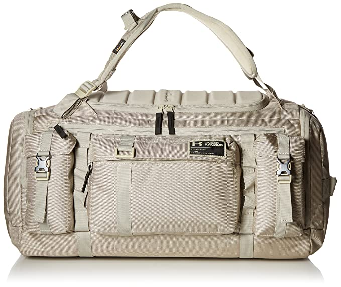 a07b7b53218 Amazon.com: Under Armour CORDURA Range Duffle, Graystone/Black, One ...