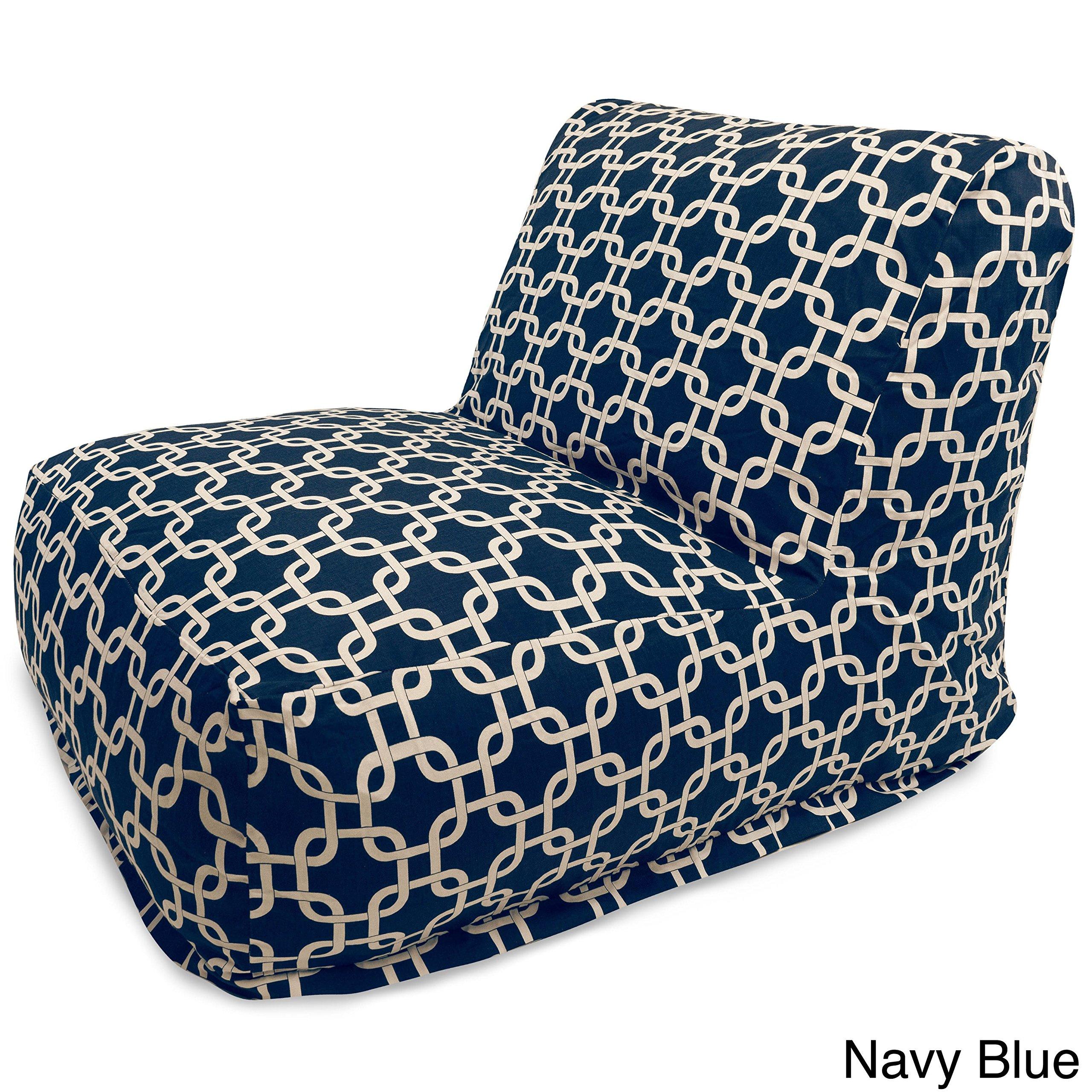 Majestic Home Goods Links Bean Bag Chair Lounger, Navy Blue