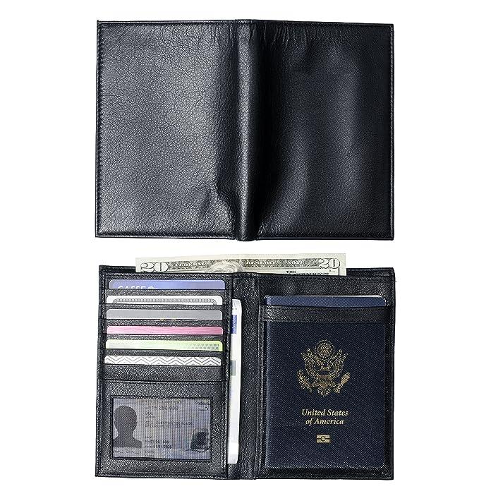Leatherly Con Billetera De Piel Tipo Pasaporte Caso Y Amazones