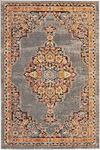 Nourison Passionate Persian Traditional Grey Area Rug 3'11″ x 5'11″