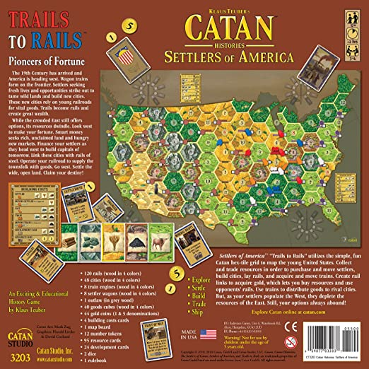 Amazon Com Catan Histories Settlers Of America Trails To Rails Toys Games