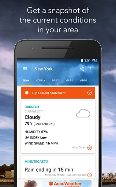 Amazon AccuWeather With Superior AccuracyTM Appstore For Android