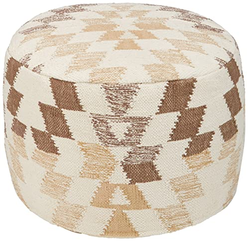 Signature Design by Ashley A1000383 Pouf, White Brown
