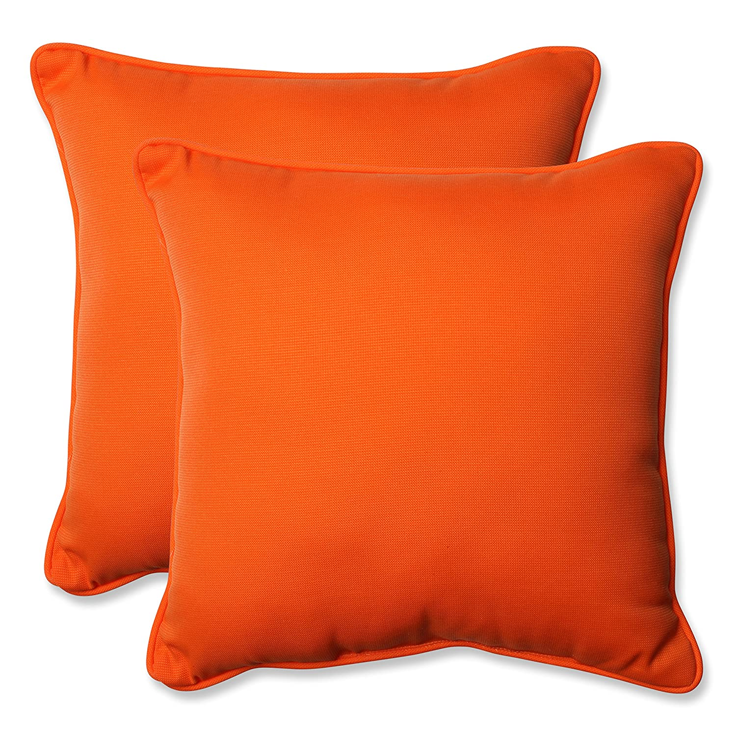 amazoncom pillow perfect sundeck corded throw pillow 185inch orange set of 2 home u0026 kitchen