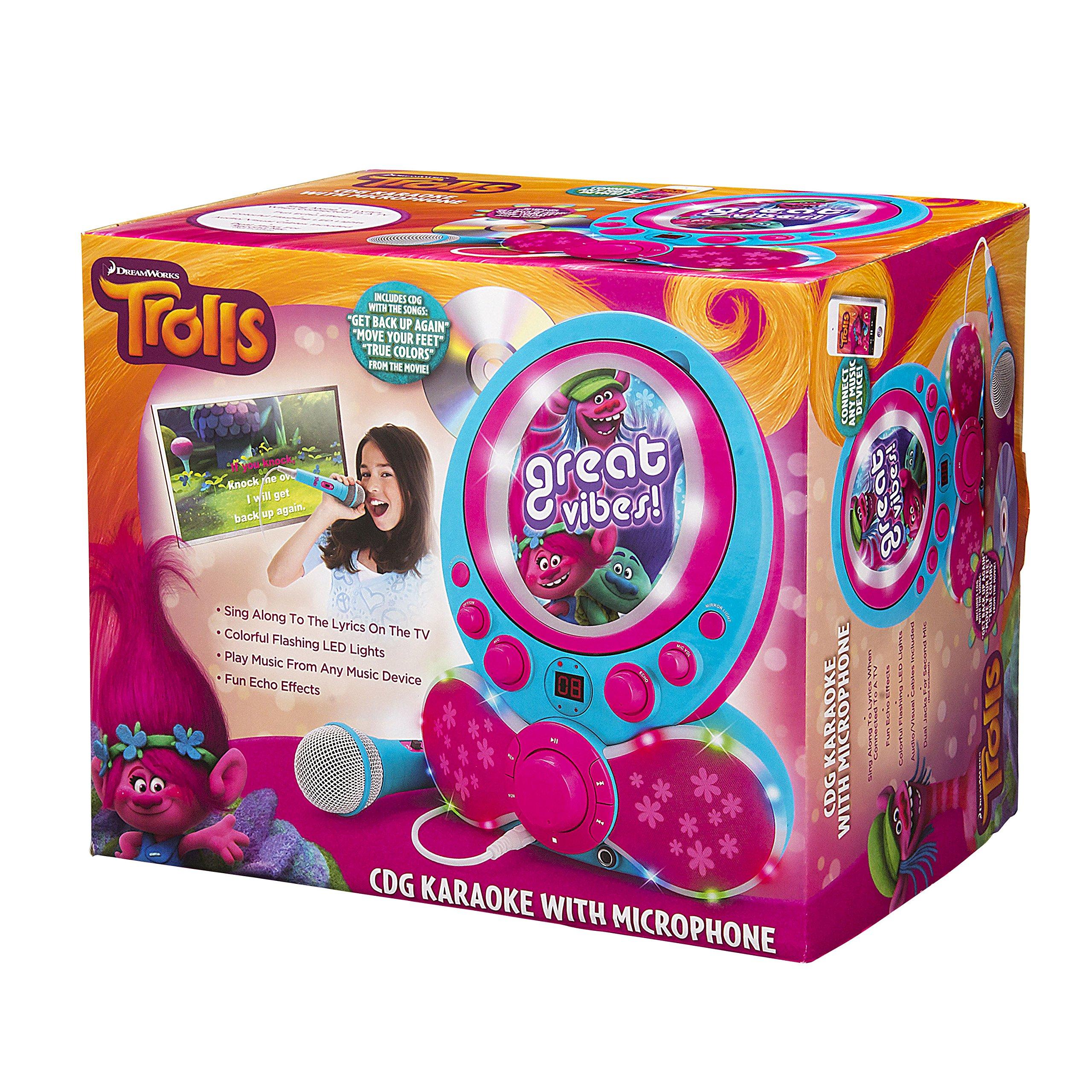 KIDdesigns Trolls CDG Karaoke Machine CD Player with Microphone by KIDdesigns (Image #5)