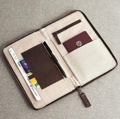 f7026823e906 Amazon.com: Capra Leather Leather Travel Document Organizer for Men ...