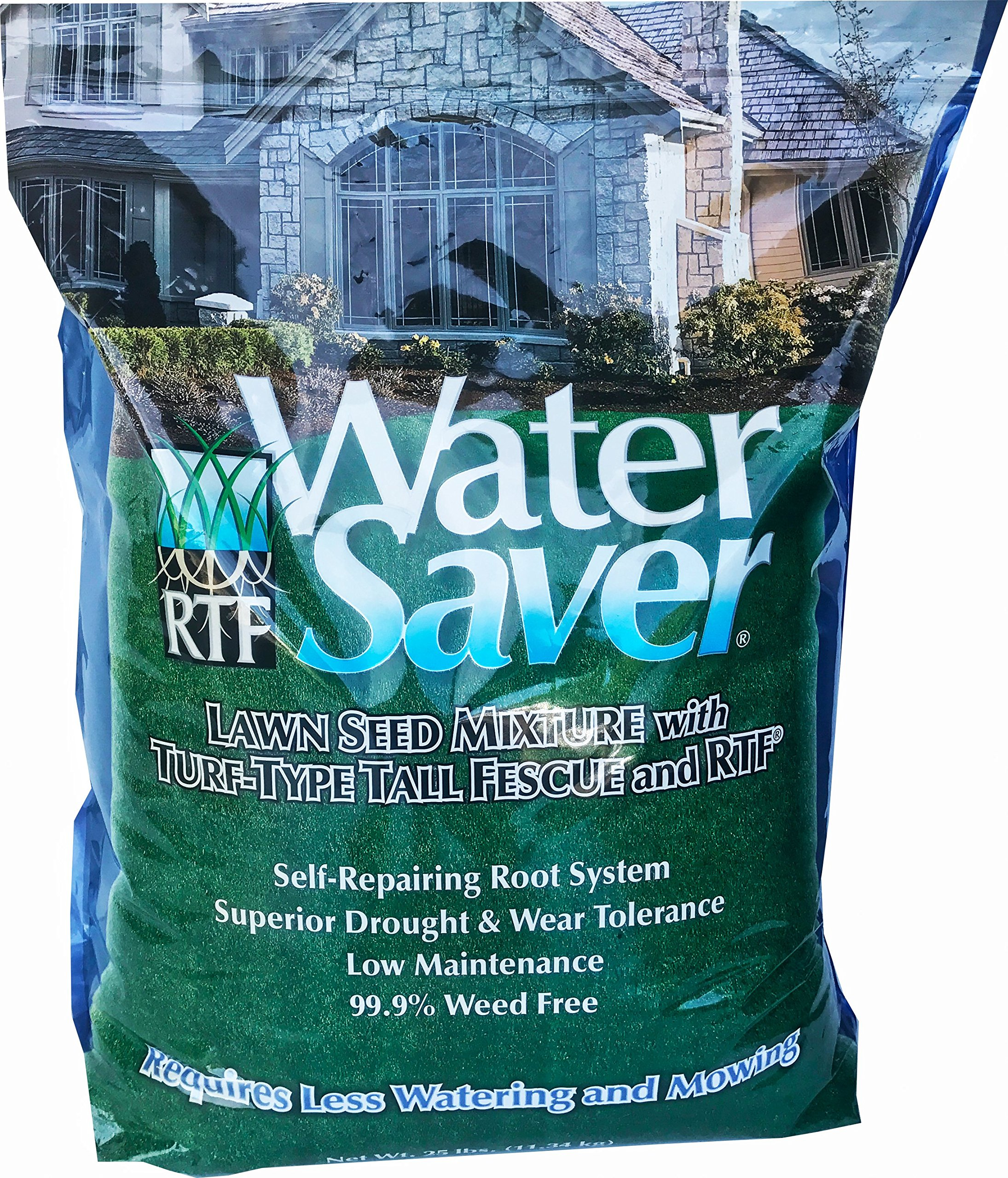 WaterSaver Lawn Seed Blend, 25 lb