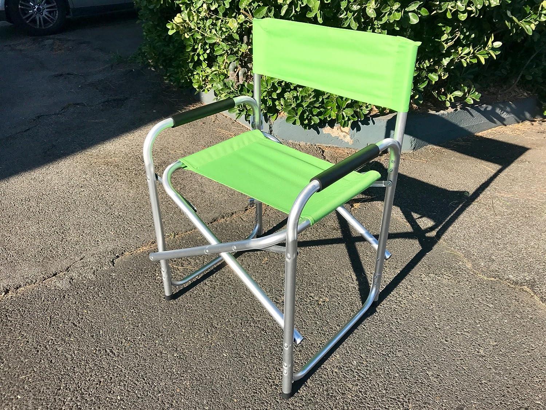 Sedia Regista Lusso Verde in Alluminio 685277 Marcata Eurolandia® BIACCHI ETTORE SRL