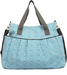f74757df1bd7 Stratus Diaper Tote Bag by White Elm (Blue) - Durable Waterproof Coated  Canvas