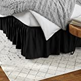 Amazon Basics Ruffled Bed Skirt - Queen, Black
