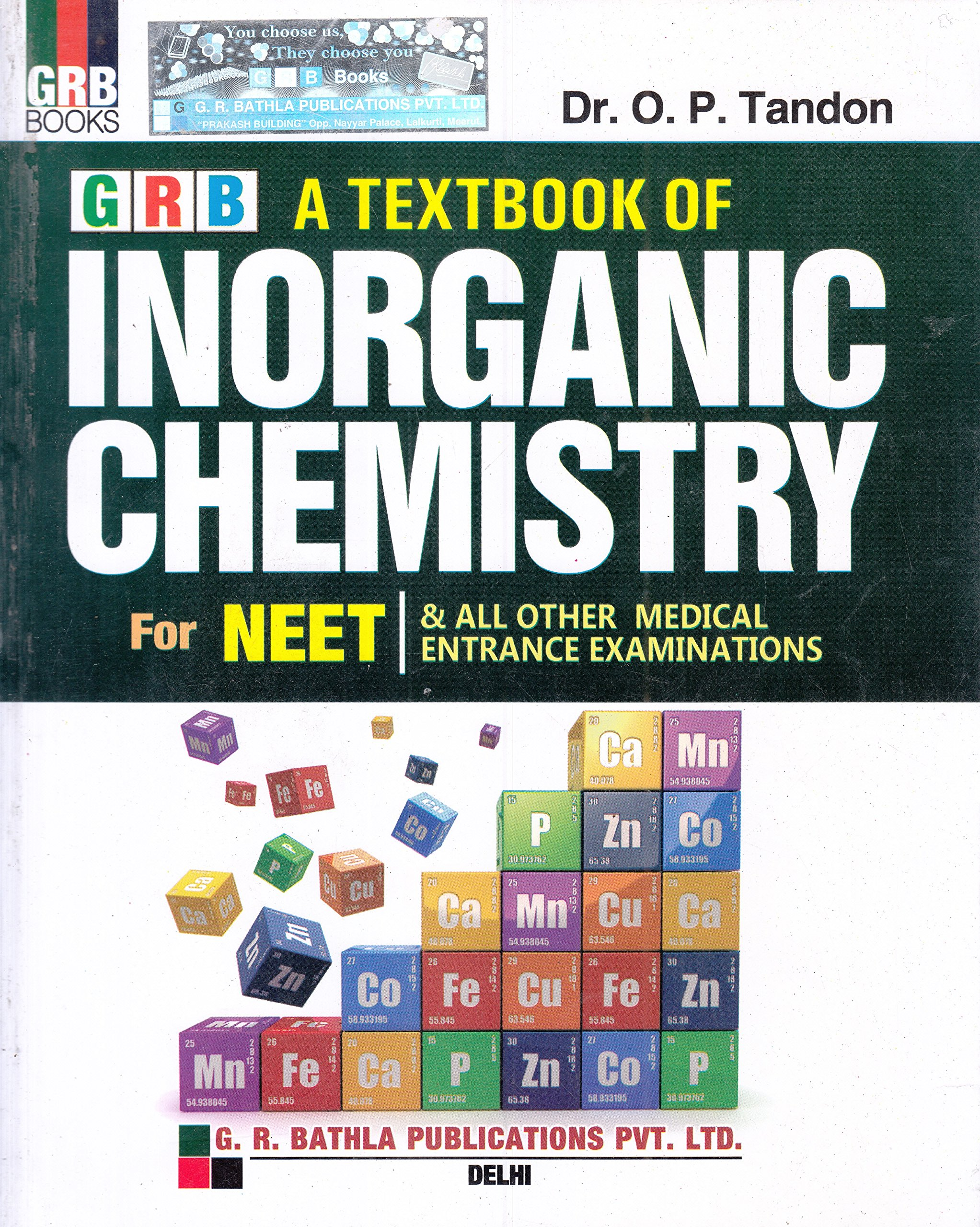 A Textbook Inorganic Chemistry for NEET & All Other Medical