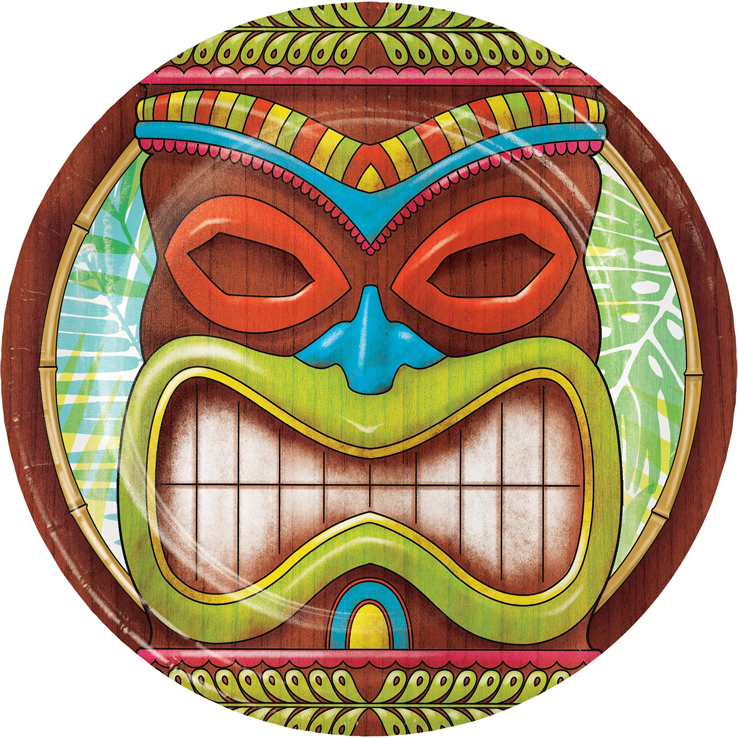 Tiki Time Dessert Plates, 24 ct by Creative Converting (Image #1)