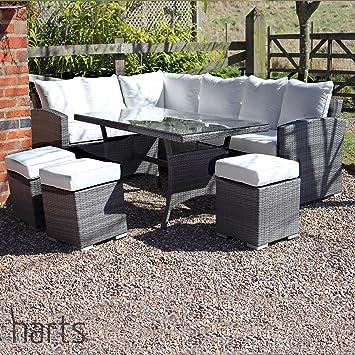 Harts Outdoor Furniture Harts Premium Conjunto de Comedor de Ratán ...