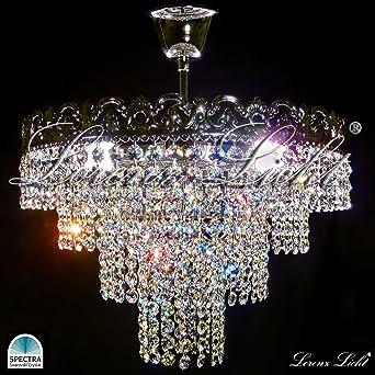 Crystal lighting chandelier viktoria made with real swarovski crystal lighting chandelier viktoria made with real swarovski crystals gold or silver amazon lighting aloadofball Images