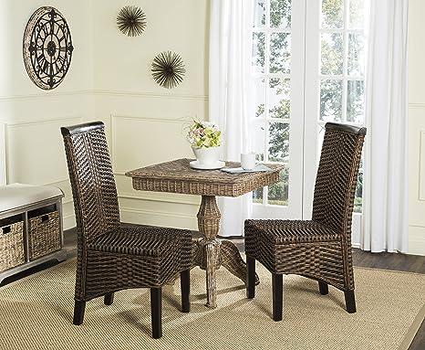 Amazon.com: Safavieh Home Collection Ilya Wicker Dining ...