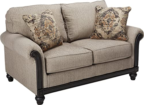 Signature Design by Ashley – Blackwood Traditional Style Loveseat, Taupe