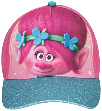 5f5e60f36 Trolls Poppy Spring Children Hat Baseball Cap Girls Summer Cap Children  (pink glitter)  Amazon.co.uk  Clothing