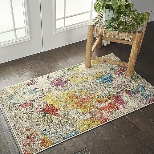Nourison Celestial Colorful Modern Multicolor Area Rug 2'2″X3'9″