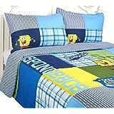 Nickelodeon SpongeBob Comforter Quilt Set, Full Queen Size 3 Pieces