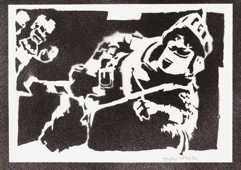 Poster Principe Clash Royale Handmade Graffiti Street Art - Artwork
