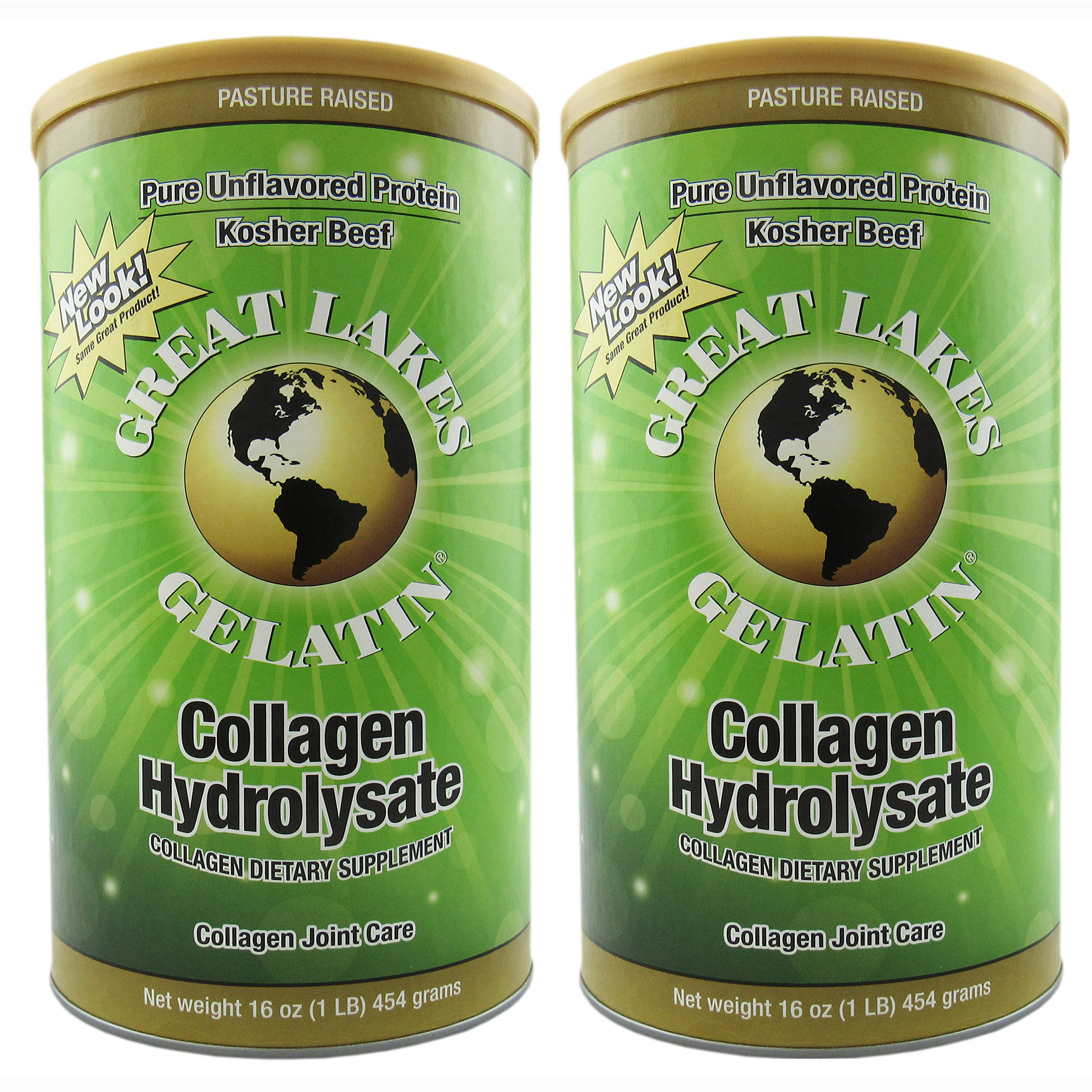 Great Lakes Gelatin Co., Collagen Hydrolysate, Bovine, 16 oz (454 g) - 2pcs by Great Lakes (Image #1)