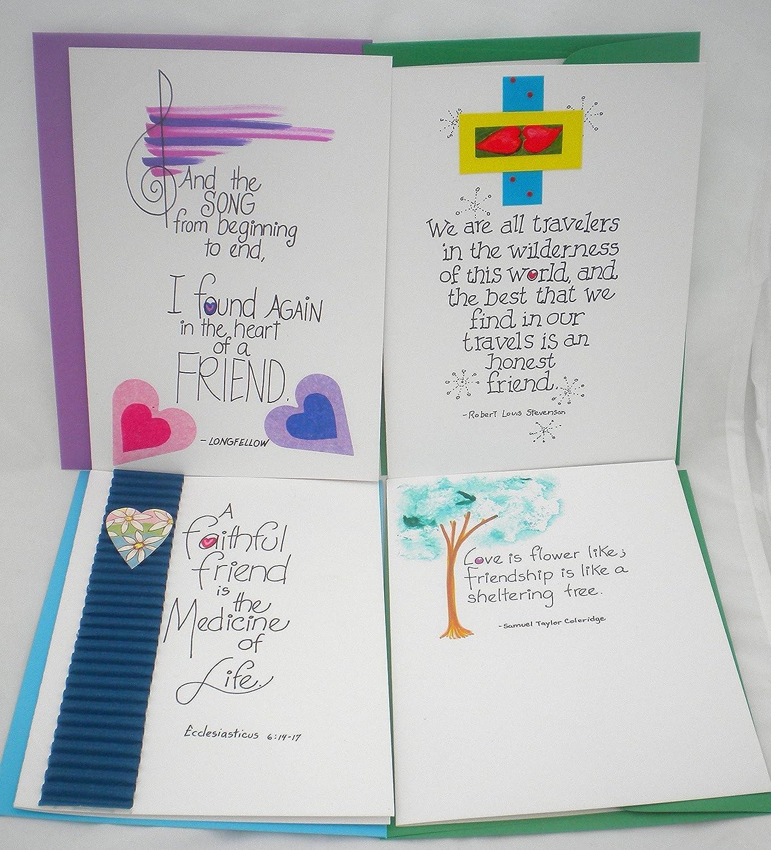 Amazon Com Friendship Birthday Handmade Greeting Card Set Handmade