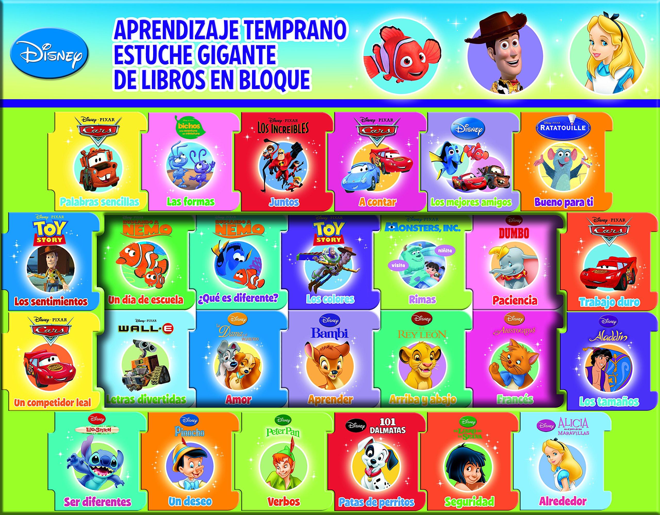 Disney Estuche Aprendizaje X 26: 9781450871792: Amazon.com ...