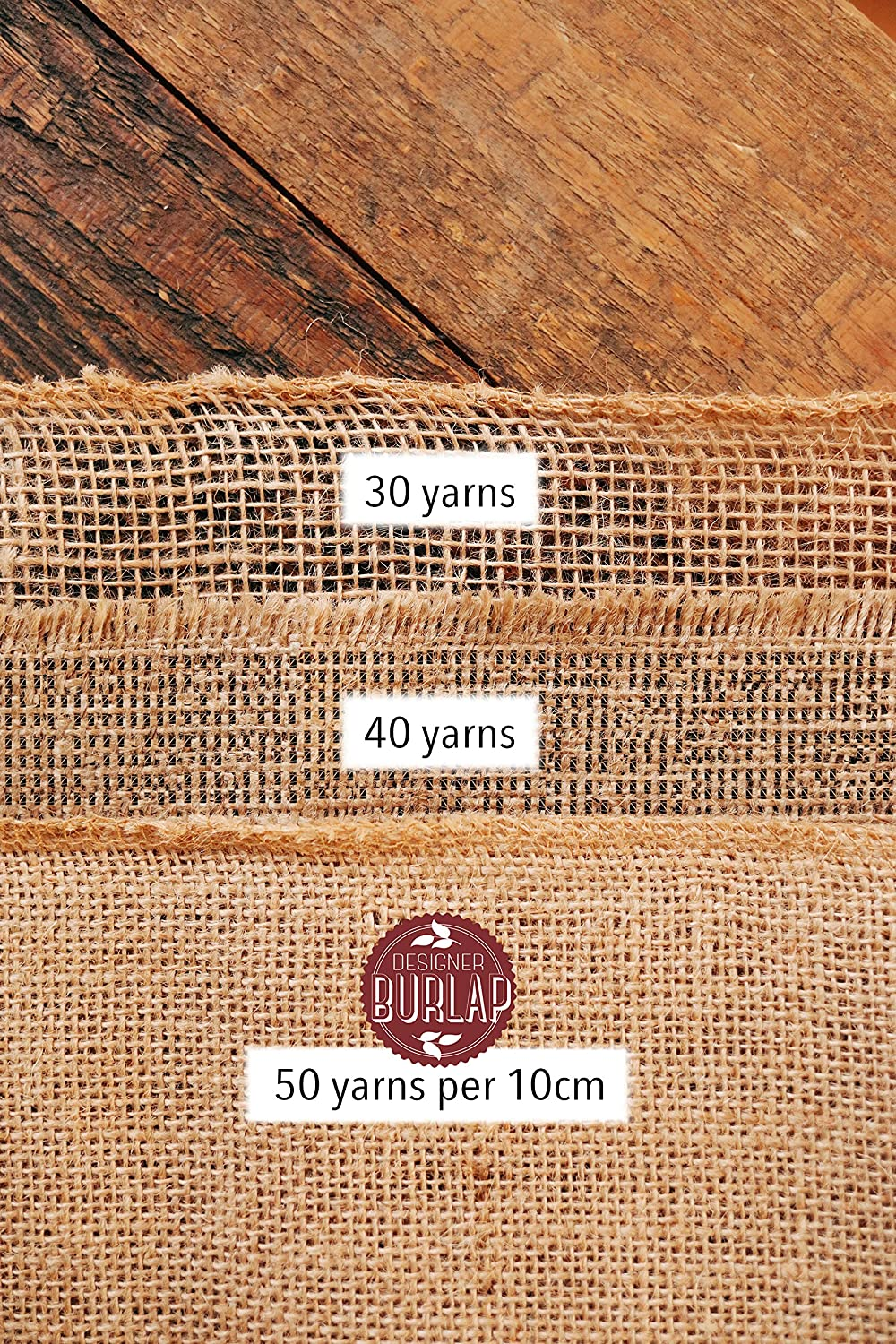 Burlap Table Runner - 14 Inch Wide X 10 Yards Long Burlap Roll - Burlap Fabric Rolls. A No-Fray Burlap Runner with Overlocked and Sewn Edges for Rustic Weddings, Decorations and Crafts!: Home & Kitchen