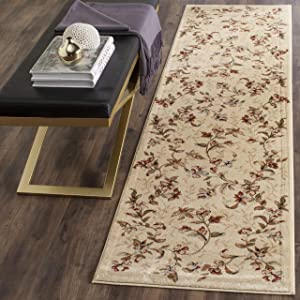 """Safavieh Lyndhurst Collection LNH325A Traditional Floral Beige Runner (2'3"""" x 12')"""