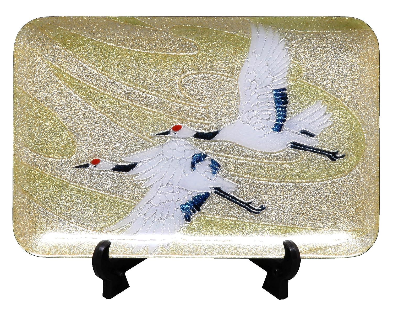彩光舎 七宝焼き 飾皿 55 わらべ 108-19 B01N25VZ6G 約15×15cm|種類 : 飾り皿|わらべ 種類 : 飾り皿 約15×15cm