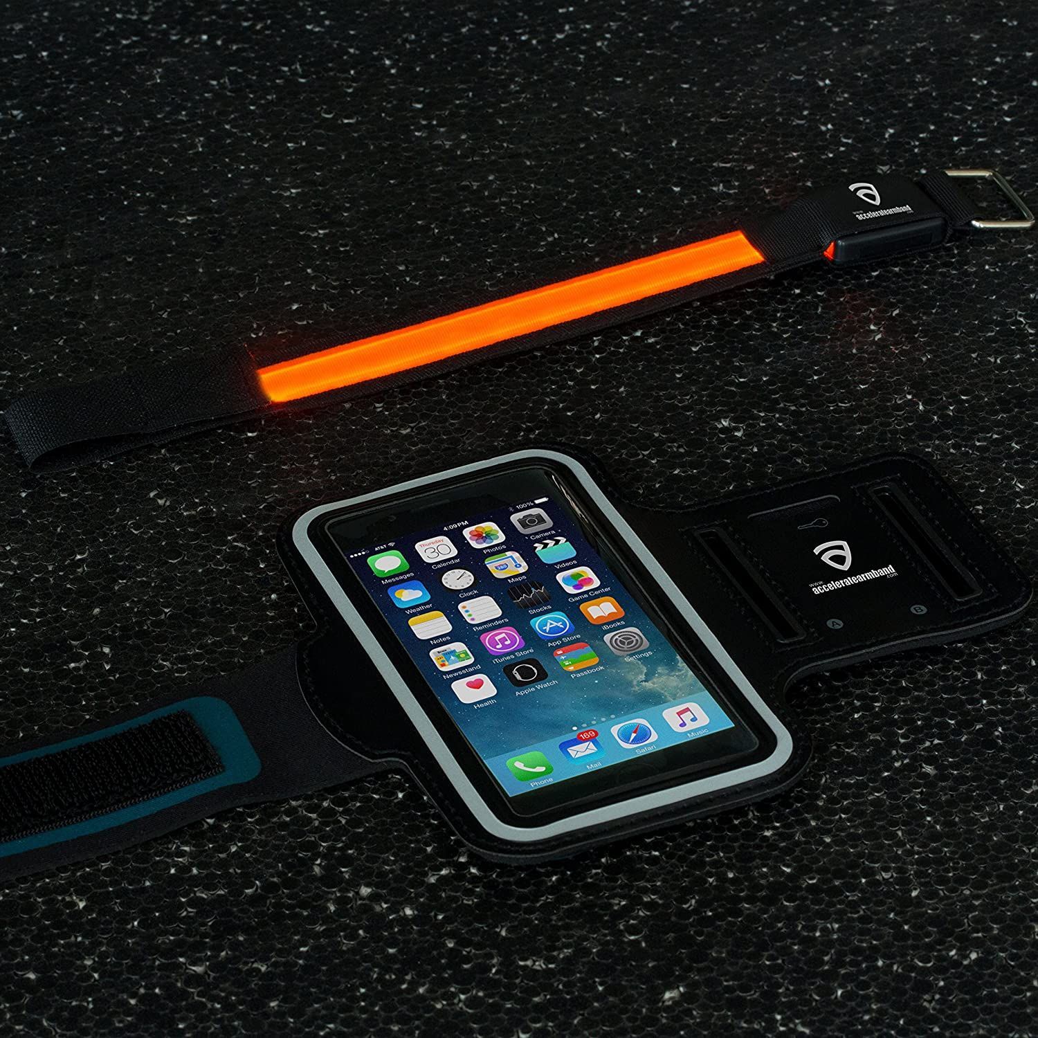 Amazon Accelerate Armband BONUS Accelerate LED Safety Bracelet Fits iPhone 6 6S 4 7 Inch Galaxy S3 S4 iPhone 5 5C 5S Sports Armband Cell