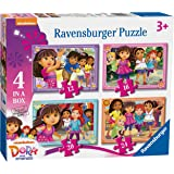 Ravensburger Dora and Friends, 4 in a Box (12, 16, 20, 24pc) Jigsaw Puzzles